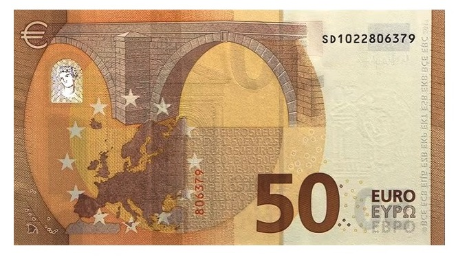 новая банкнота 50 евро